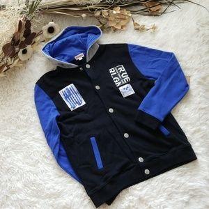True Religion Varsity Hoodie Jacket Sweatshirt